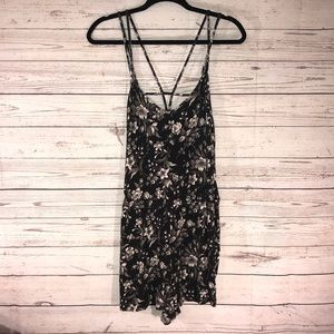 American Eagle Flower Romper Dress Medium (F)